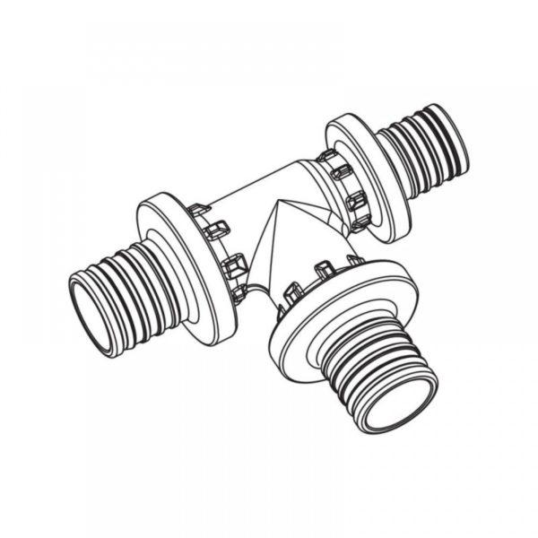 11600741001 M 34710 5 1000x1000 1 Тройник RAUTITAN PX с уменьшенным торцевым проходом  Используется для монтажа систем водоснабжения и отопления с трубами RAUTITAN stabil и RAUTITAN flex. Материал: *PPSU (полифенилсульфон).
