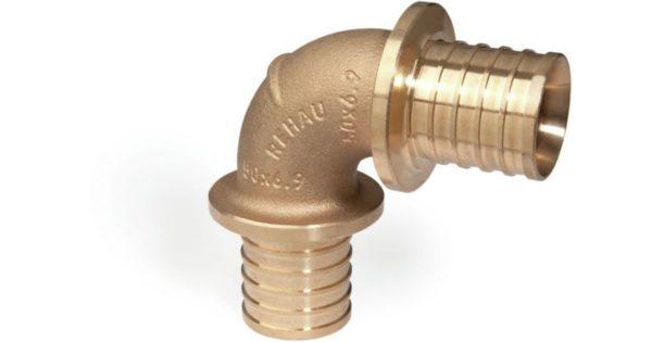 13660461001 1200x630 1 Угольник PX 90° Rehau Rautitan Используется для монтажа систем водоснабжения и отопления c трубами RAUTITAN stabil и RAUTITAN flex. Оснащены специальными центрирующими выступами. Материал: Бронза в соответствии с DIN EN 1982.