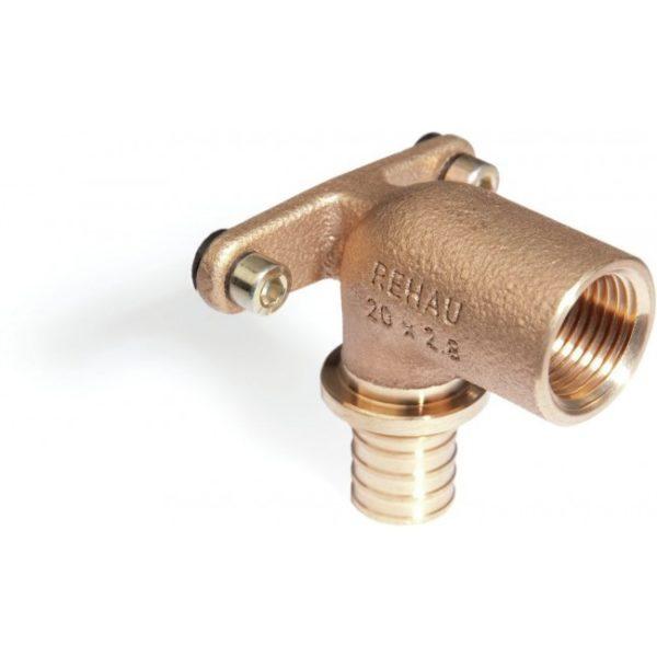 13661051001 650x650 1 RX Угольник настенный длинный REHAU RAUTITAN  Используется для монтажа систем водоснабжения и отопления с трубами RAUTITAN stabil и RAUTITAN flex. Материал: бронза в соответствии с DIN EN 1982.