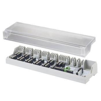 44685.970 Клеммная коробка на 10 зон. Каждая зона поддерживает до четырех терморегуляторов или сервоприводов с напряжением 230 В.
