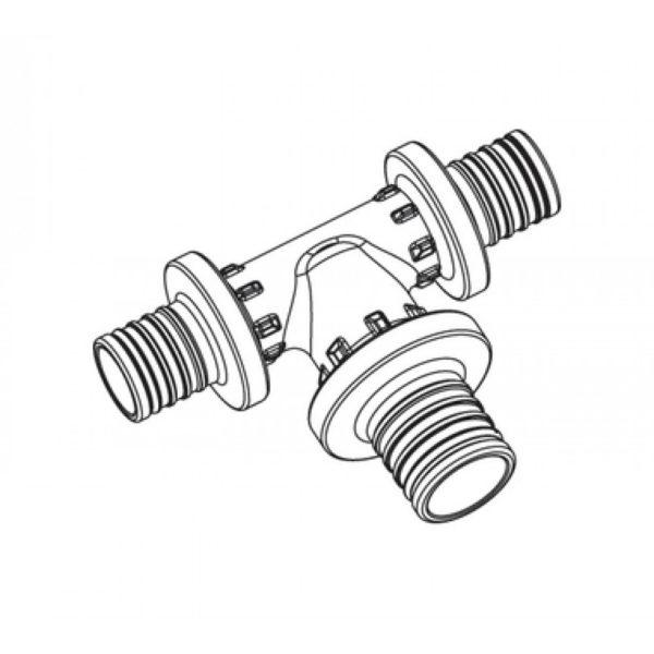 71ca8c509163ee97a97f9fd8bcd7bbfb 1000x1000 1 Тройник с увеличенным боковым проходом Rehau Rautitan Используется для монтажа систем водоснабжения и отопления с трубами RAUTITAN stabil и RAUTITAN flex. Материал: *PPSU (полифенилсульфон).