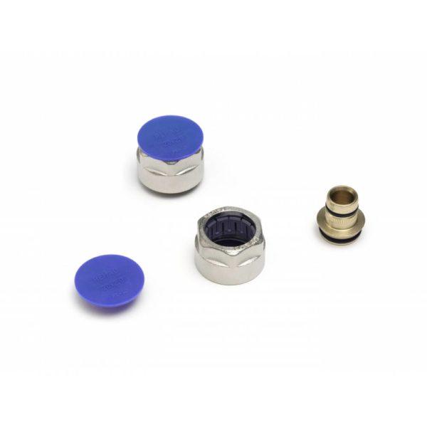 """M 289764 1 Резьбозажимное соединение REHAU flex/pink 20х2,8xG3/4 Используется для непосредственного подсоединения труб RAUTITAN flex к блоку шаровых кранов REHAU, к распределительному коллектору REHAU либо к запорной арматуре с евроконусом G 3/4""""."""