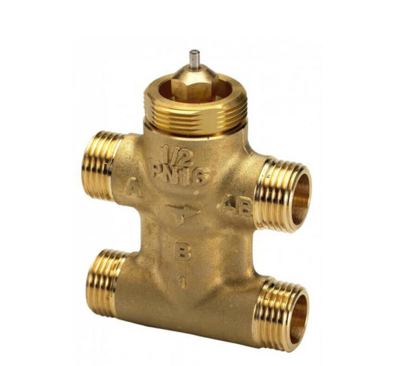 "f21033c9143286bd124ed99975c1284b VZL4 ДУ 15 РУ16 НР G1/2"" KVS=0.25М3/Ч Клапан регулирующий латунь Danfoss"