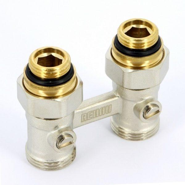 import files 16 165852a53f7811e5a4a850e54936ac99 1ad39fbc9e8e11e6bc0350e54936ac99 Блок шаровых кранов REHAU используется в системах отопления. Это пара шаровых кранов, применяющихся в качестве запорной арматуры и для соединения радиаторов с нижним подключением и соединительными стальными трубками из серий REHAU.