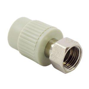 FV-Plast Муфта с накидной гайкой ф32-11/4внут. PP-R серая 223032 Чехия