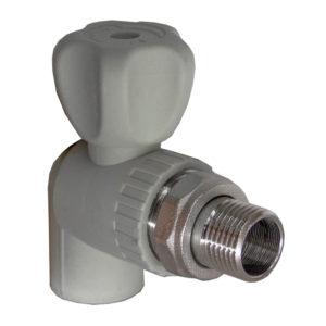 FV-Plast Кран шаровой для радиатора угловой ф20-1/2нар. PP-R серый A315020000 Чехия