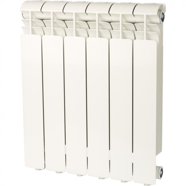 Global ISEO 500 6 секций радиатор алюминиевый боковое подключение (белый RAL 9010)
