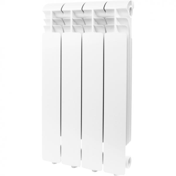 Global ISEO 500 4 секции радиатор алюминиевый боковое подключение (белый RAL 9010)