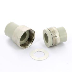 Разборное соединение труба-труба ф50 PP-R FV-Plast серое 224050 Чехия