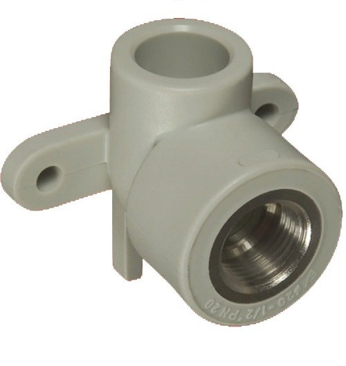 Уголок с крепежом ф25-3/4внут. PP-R серый 219025 FV-Plast