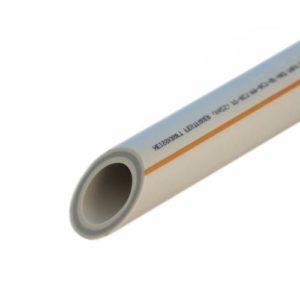 Труба полипропиленовая ф63х7.1 со стеклов. (для отопл) PP-RCT FASER HOT PN20 серая FV-Plast