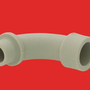 Уголок плавный 90°- ф20 PP-R серый 241020 FV-Plast