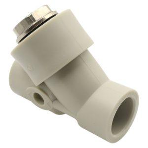 Обратный клапан косой ф32 PP-R FV-Plast серый 308032 Чехия