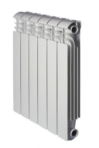 Global ISEO 500 10 секций радиатор алюминиевый боковое подключение (белый RAL 9010)