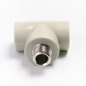 Тройник ф25-3/4нар.-25 PP-R серый 222525 FV-Plast
