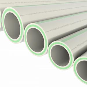 Труба полипропиленовая ф 63х10.5 со стеклов(для отопл) PPR FASER S2.5 SDR6 PN20 серая FV-Plast