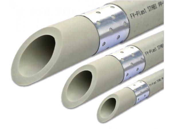 Труба полипропиленовая ф63х7.1 с алюм. арм. (для отоп) PP-RCT Stabioxy PN20 серая FV-Plast