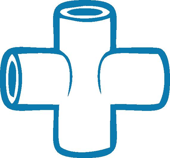 Крестовина полипропиленовая