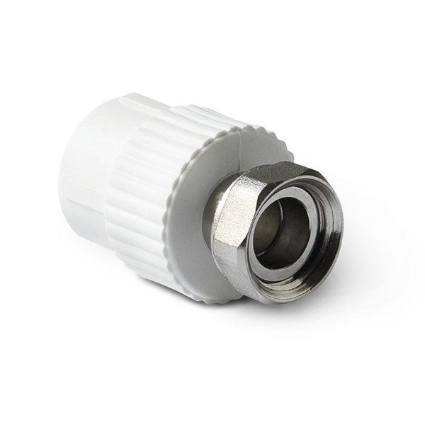 PP-R Муфта с накидной гайкой белая 32-1