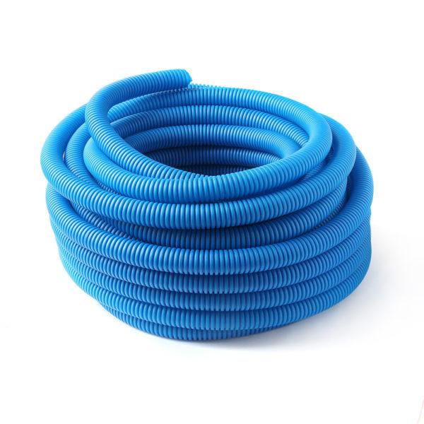 Труба защитная гофрированная для труб 20 мм (синяя) Dн 28 мм