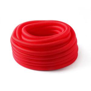 Труба защитная гофрированная для труб 20 мм (красная) Dн 28 мм