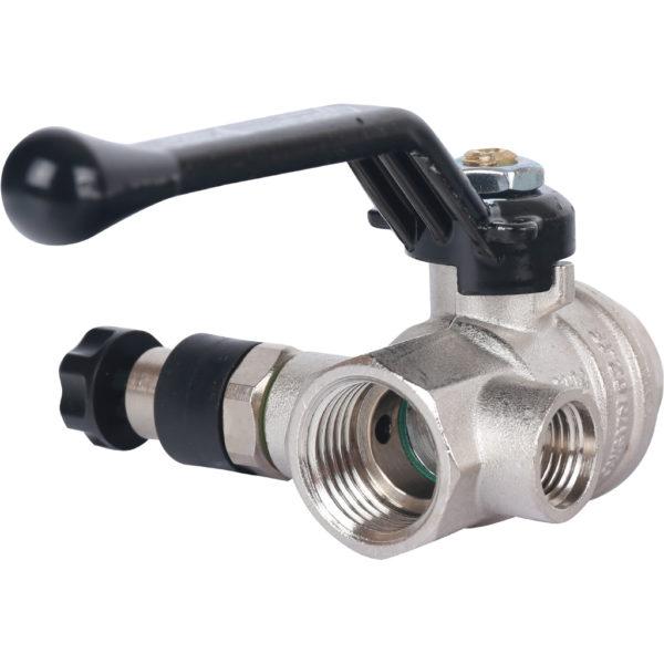 Кран шаровый усиленный 330 серия 1/2 ВР/ВР со сливным клапаном (Ручка)