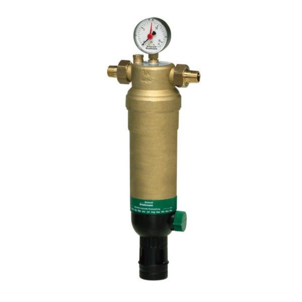 Setchatyj filtr Honeywell F76S AAM 800x800 1 Фильтр для предварительной очистки холодной воды от механических примесей - частиц ржавчины, волокон пеньки, песчинок, защиты сантехники, бытовой техники подключенной к водопроводу.