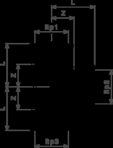 ZMm1622l25 Размер:Rp1-Rp2-Rp3 Резьбовые фитинги и удлинители Viega отвечают соответствующим нормам и правилам. Эти части имеют достаточную толщину стенки. Обусловленные производственным процессом напряжения сняты путем отжига.