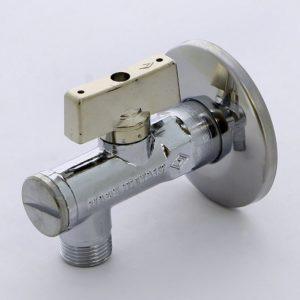 Миникран шаровый угловой для смесителей с розеткой 1/2 х 1/2 серия 871