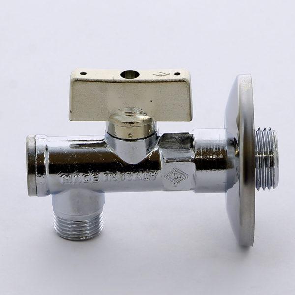 Миникран шаровый угловой для смесителей с розеткой 1/2 х 3/8(с фильтром) серия 871