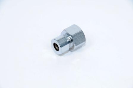 Соединение TST прямое обжимное (хром) ВР 1/2х3/8х10