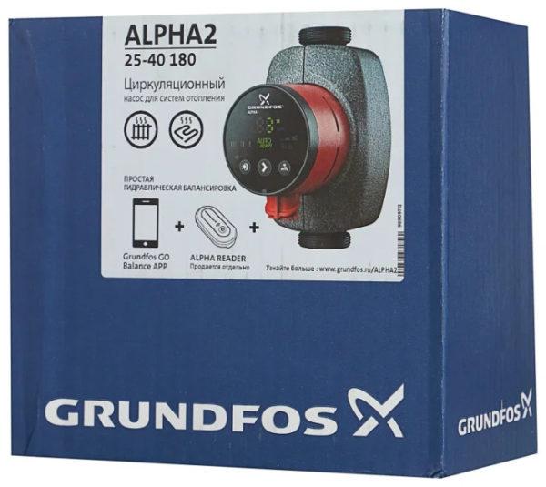 orig 9 1 НасосыGRUNDFOS ALPHA2используются для циркуляции воды или гликольсодержащих жидкостей в регулируемых системах отопления и в системах отопления с переменным расходом. Помимо этого, насосы могут применяться для циркуляции в системах горячего водоснабжения.