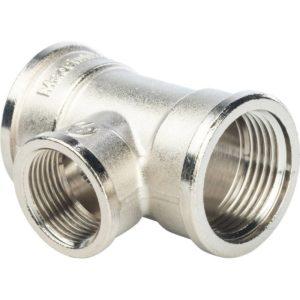 SFT-0022-341234 STOUT Тройник ВР переходной никелированный 3/4X1/2X3/4