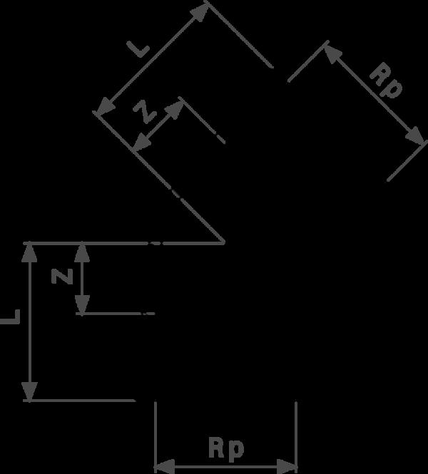 ZMm1614l25 Размер: Rp-Z-L Резьбовые фитинги и удлинители Viega отвечают соответствующим нормам и правилам. Эти части имеют достаточную толщину стенки. Обусловленные производственным процессом напряжения сняты путем отжига.