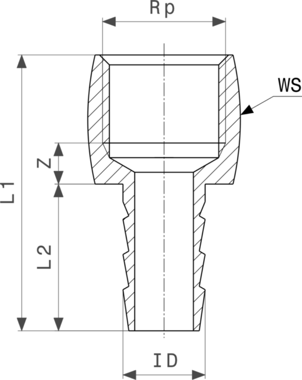 ZMm1846l25 Размер:Rp Резьбовые фитинги и удлинители Viega отвечают соответствующим нормам и правилам. Эти части имеют достаточную толщину стенки. Обусловленные производственным процессом напряжения сняты путем отжига.