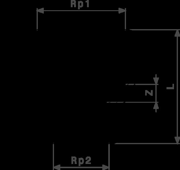 Редукционная муфта ⅜-¼ Rp Viega