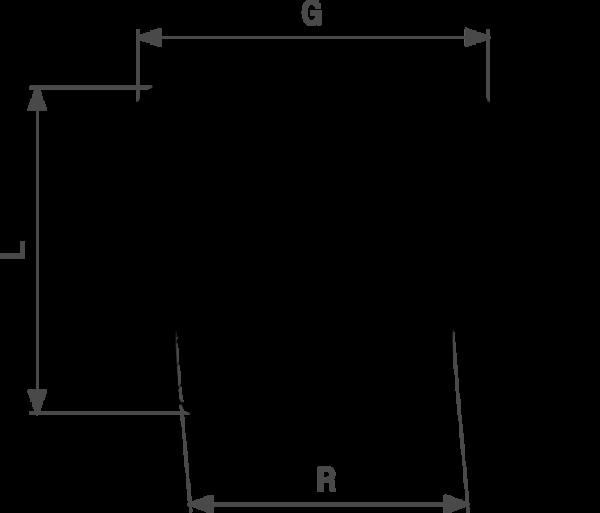 ZMm3246l25 Размер: R-Rp Резьба с насечками, внешний многогранник для фиксации гаечным ключом. Viega отвечают соответствующим нормам и правилам. Эти части имеют достаточную толщину стенки. Обусловленные производственным процессом напряжения сняты путем отжига.