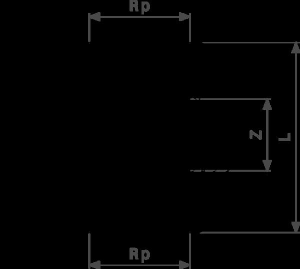 ZMm3340l25 Размер:Rp Резьбовые фитинги и удлинители Viega отвечают соответствующим нормам и правилам. Эти части имеют достаточную толщину стенки. Обусловленные производственным процессом напряжения сняты путем отжига.