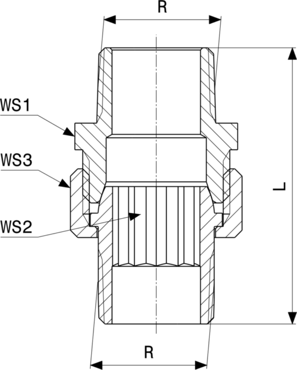 ZMm3344l25 Размер:Rp Резьбовые фитинги и удлинители Viega отвечают соответствующим нормам и правилам. Эти части имеют достаточную толщину стенки. Обусловленные производственным процессом напряжения сняты путем отжига.