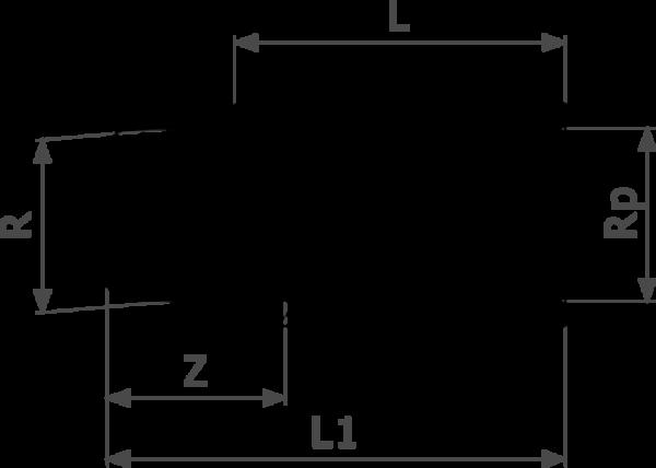 ZMm3525l25 Размер:Rp Резьбовые фитинги и удлинители Viega отвечают соответствующим нормам и правилам. Эти части имеют достаточную толщину стенки. Обусловленные производственным процессом напряжения сняты путем отжига.