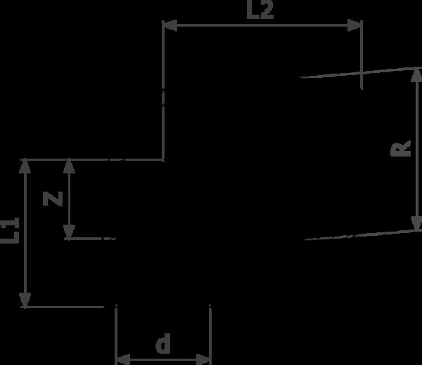 ZMm94092Gl25 бронза - соединение под пайку, R-резьба  d = внешний диаметр трубы Rp = внутренняя цилиндрическая резьба