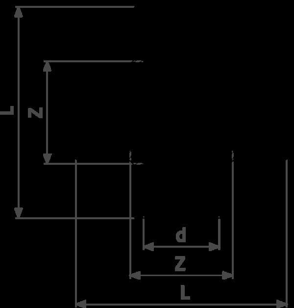 ZMm94180l25 - бронза - соединение под пайку  d = внешний диаметр трубы