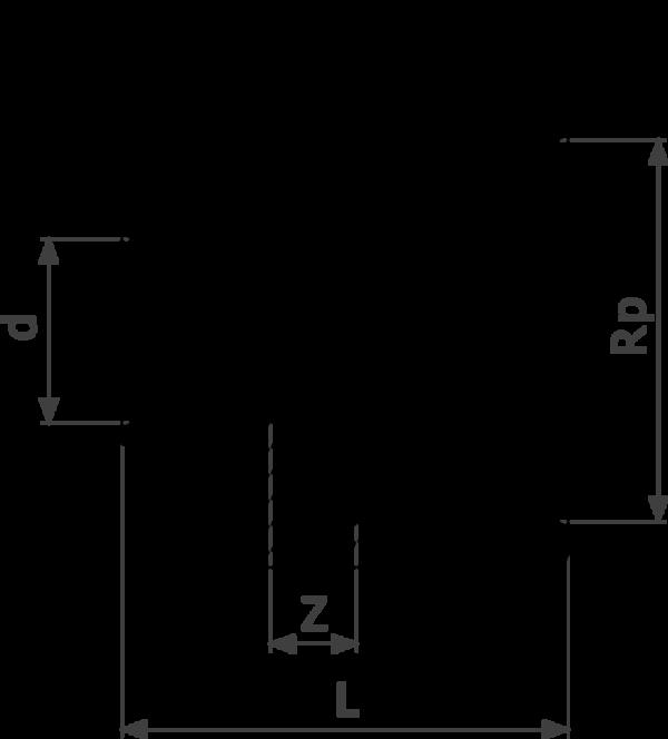 ZMm94270Gl25 1 Скорость выполнения пресс-соединений Viega действительно впечатляет. После всего трех подготовительных действий – отрезания трубы нужной длины, вставления пресс-фитинга и проверки глубины вставки – опрессовка занимает всего несколько секунд. Нет необходимости в калибровке, как в других трубопроводных системах. Это позволяет сэкономить от 30 до 50% времени по сравнению с пайкой, в зависимости от диаметра трубы. Поскольку все пресс-соединения оснащены гребнем с двойной опрессовкой, опрессованные соединения вдвойне надежнее.  - бронза - соединение под пайку, Rp-резьба  d = внешний диаметр трубы Rp = внутренняя цилиндрическая резьба
