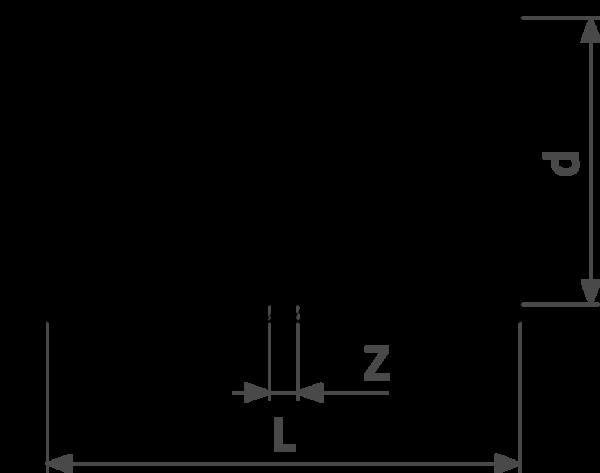ZMm95270l25 - медь - соединение под пайку  Cu = гарантия качества Cu d = внешний диаметр трубы