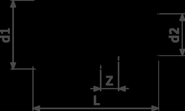 ZMm95243l25 - медь - однораструбный соединительный элемент, соединение под пайку  Cu = гарантия качества Cu